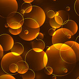 Gold bokeh seamless background Stock Images