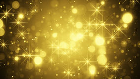 Gold bokeh and sparkles Stock Image