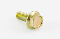 Gold bolt Stock Image