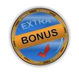 Gold bonus icon. On a white background vector illustration