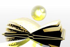 Gold book Royalty Free Stock Photos