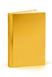 Gold book - clipping path Royalty Free Stock Photography