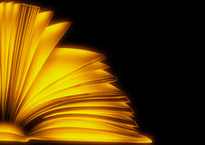 Gold book. sketch style illustration Royalty Free Stock Photo