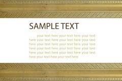 Gold border. Stock Photography