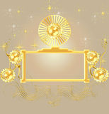 GOLD BORDER BACKGROUND Stock Photos