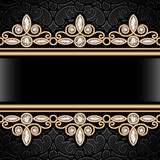 Gold border frame Royalty Free Stock Photo