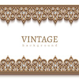 Gold border frame on white Royalty Free Stock Photo
