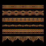 Gold border patterns Royalty Free Stock Photography
