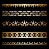 Gold border set Royalty Free Stock Images