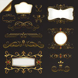 Gold Border Vector Set Stock Images