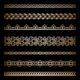 Gold borders set Stock Image