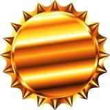 Gold bottle cap Stock Images