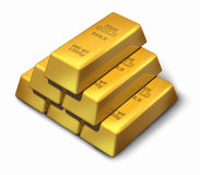 Gold bouillon pyramid Royalty Free Stock Images