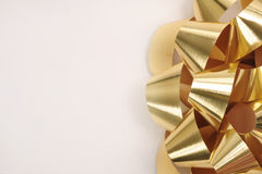 Gold bow. Ready for your type Stock Images