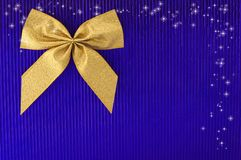 Gold bow. Stock Images