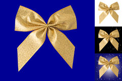 Gold bow. Stock Photo