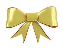 Gold bow. On a white background Stock Images