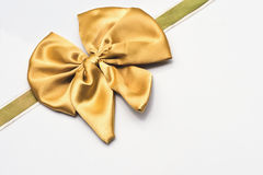Gold bow Stock Photography
