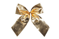 Gold bow Stock Photo
