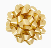 Gold Bow. Gold Christmas Bow, includes clipping path Royalty Free Stock Photography