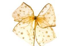 Gold bow Royalty Free Stock Photos
