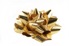 Gold Bow Royalty Free Stock Photo