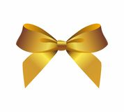 Gold Bow Royalty Free Stock Images