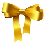 Gold bow. Vector illustration of a gold bow royalty free illustration