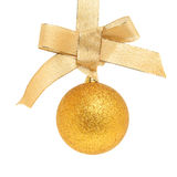 Gold bow and ball Stock Images