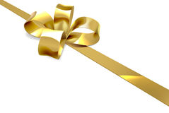 Gold Bow Christmas Gift Background Royalty Free Stock Photo