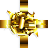 Gold bow decorative Royalty Free Stock Photos