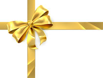 Free Gold Bow Gift Royalty Free Stock Photo - 58646755