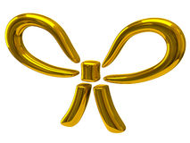 Gold bow icon Royalty Free Stock Photography