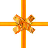 Gold bow and ribbon Stock Image