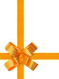 Gold bow and ribbon Royalty Free Stock Images