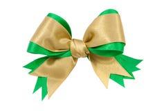 Gold bow ribbon Royalty Free Stock Photo