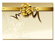 Gold Bow and Ribbons. Illustration background Stock Photography