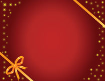 Gold bow and stars royalty free illustration