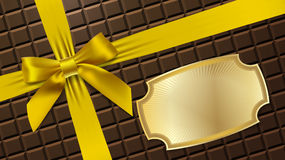 Gold bow on a textural background Royalty Free Stock Photography