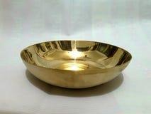 Gold bowl. Gold metal bowl Royalty Free Stock Photos