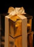 Gold box royalty free stock image
