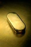 Gold box. Metal box Royalty Free Stock Images