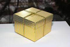 Gold box Royalty Free Stock Images