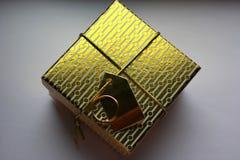 Gold box Stock Photo