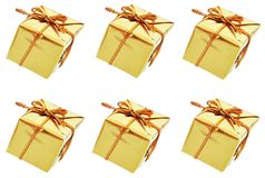 Gold boxes Royalty Free Stock Photos