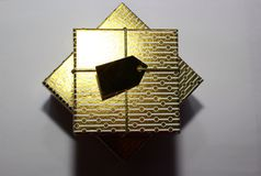 Gold boxes Royalty Free Stock Images