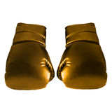 Gold Boxing Gloves. For Art work Royalty Free Stock Photography