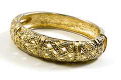 Gold bracelet Stock Photography