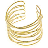Gold bracelet Stock Image