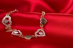 Gold bracelet. Royalty Free Stock Image